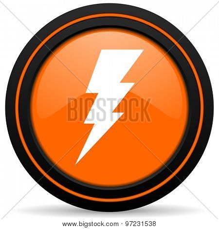 bolt orange icon flash sign