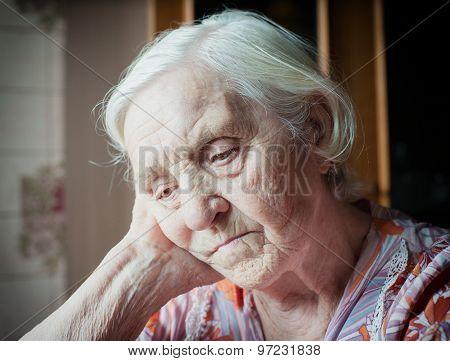 Pretty old grandmother