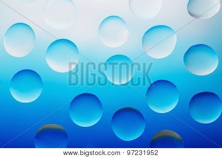 Water Droplets  Blue Background