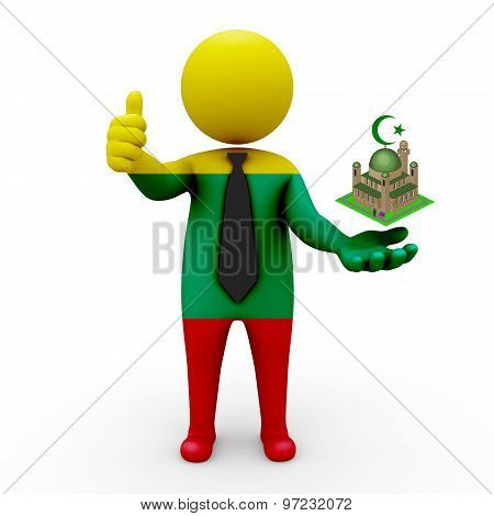 3d businessman people Lithuania - Muslim mosque and Islam in Lithuania
