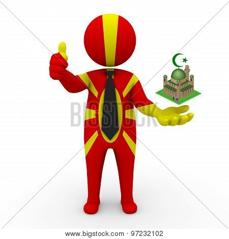 3d businessman people Macedonia - Muslim mosque and Islam in Macedonia