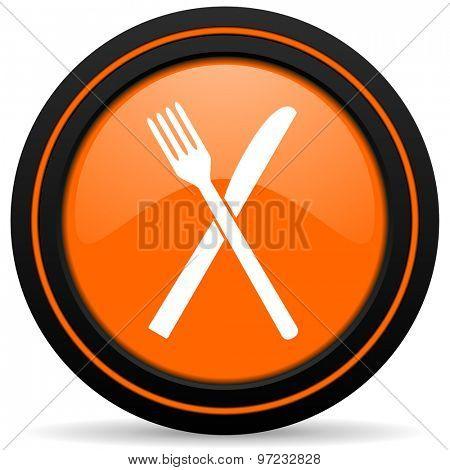 eat orange icon restaurant symbol