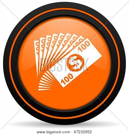 money orange icon cash symbol
