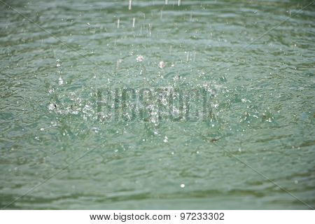 Image light splashes on surface of water