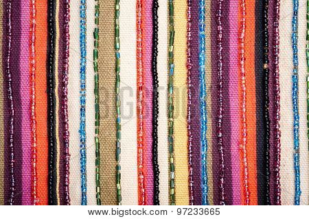 Colorful Lined Fabric Texture