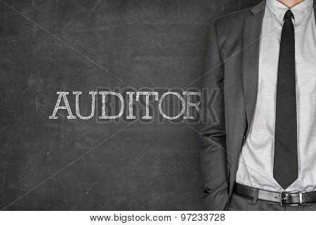 Auditor on blackboard