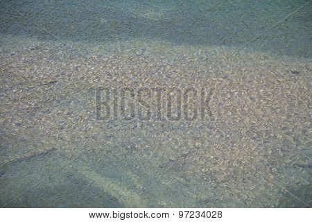 Image surface of water in the river