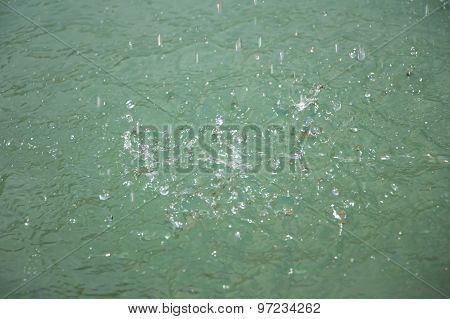Photo splashes on the surface of water