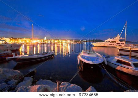 Pakostane Harbor And Waterfront Evening View