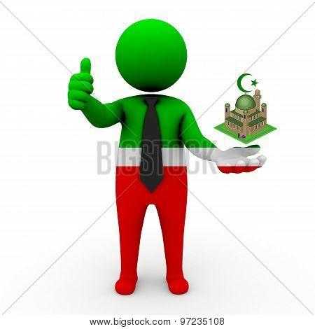 3d businessman people Tatarstan - Muslim mosque and Islam in Tatarstan
