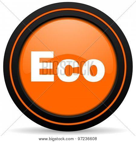eco orange icon ecological sign