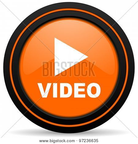 video orange icon