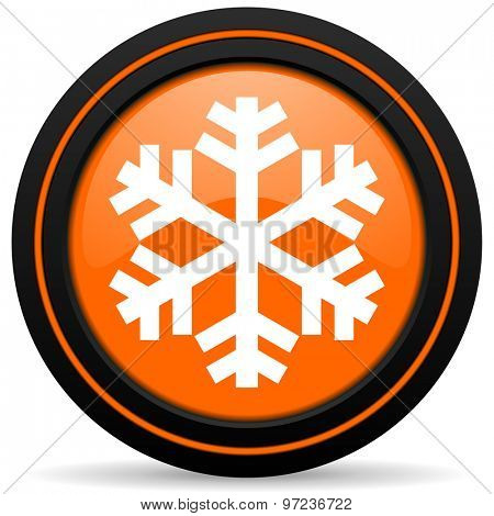 snow orange icon air conditioning sign