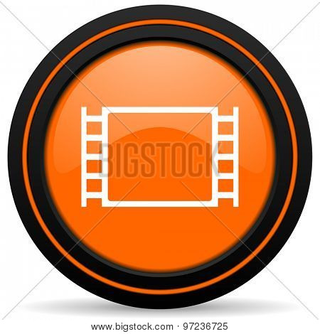 movie orange icon