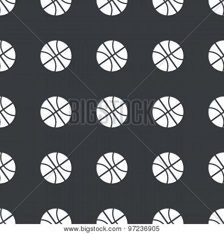 Straight black basketball pattern