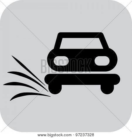 Car service, auto repair. black car icon