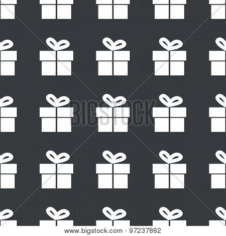 Straight black gift pattern