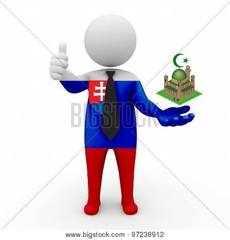 3d businessman people Slovakia - Muslim mosque and Islam in Slovakia