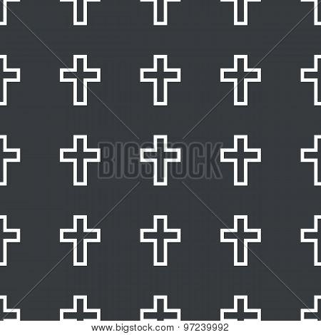 Straight black cross pattern