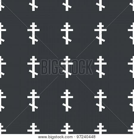 Straight black orthodox cross pattern