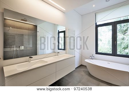 Bathtub In Corian And Faucet
