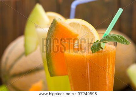 Cantaloupe melon juice