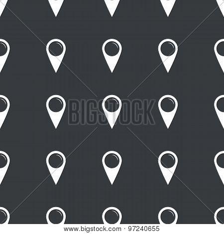 Straight black map marker pattern