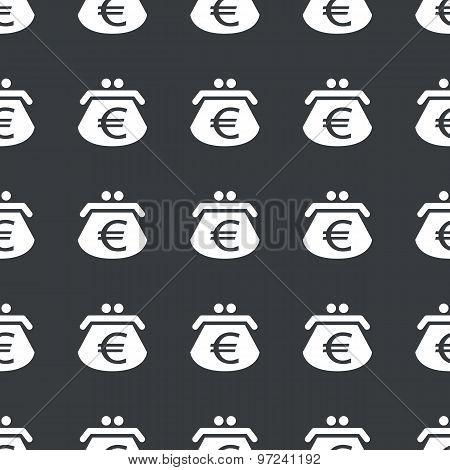 Straight black euro purse pattern
