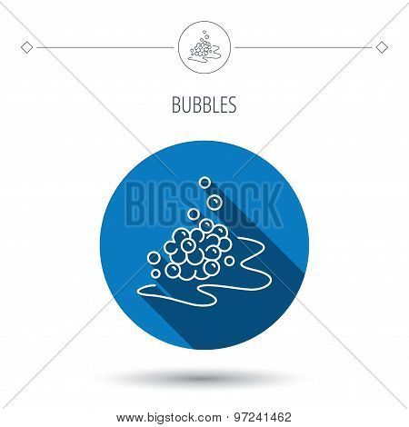 Bubbles icon. Foam for bathing sign.