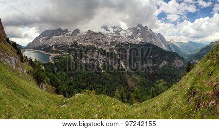 Marmolada And Lago Fedaia, Italy