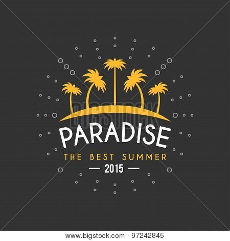 Retro Summer Holidays Vintage Label. Vector Design Elements