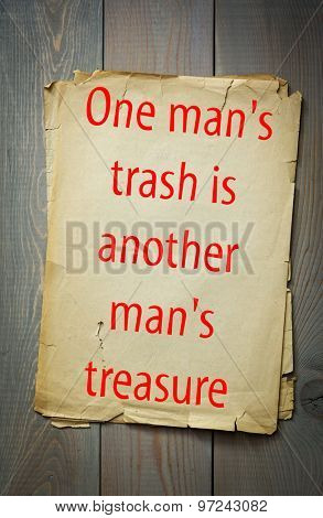 English proverb: One man's trash is another man's treasure. 50 most important english proverbs series
