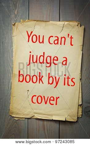 English proverb: You can't judge a book by its cover. 50 most important english proverbs series