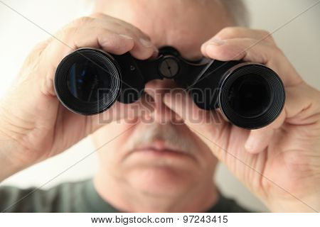 Older Man With Binoculars