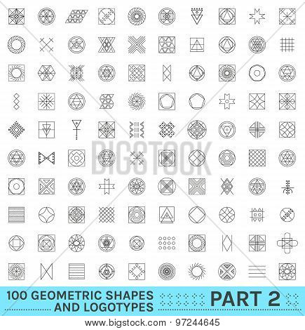 Set Of 100 Geometric Hipster Shapes12 2