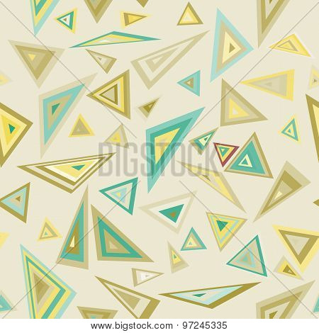Triangles. Education colorful pattern.