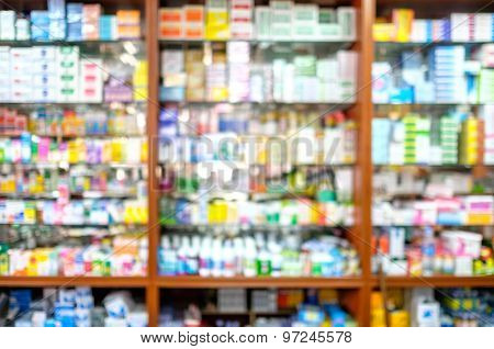 Blured Pharmacy Shop