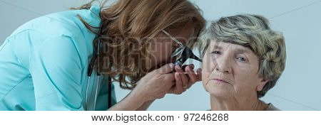 Elder Person Ear Examination