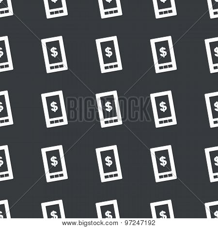 Straight black dollar screen pattern
