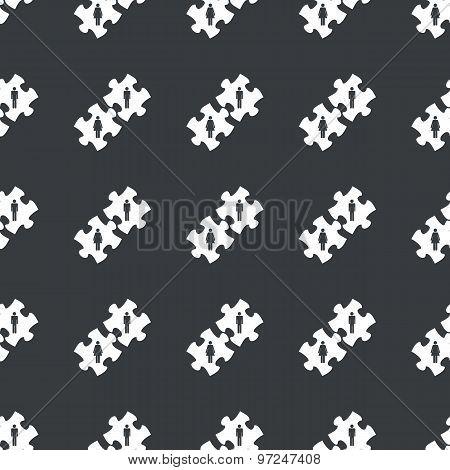 Straight black people puzzle pattern