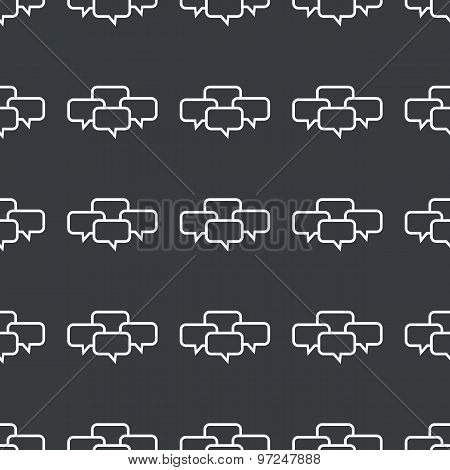 Straight black chat conference pattern