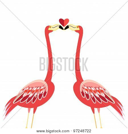 Kiss Flamingos