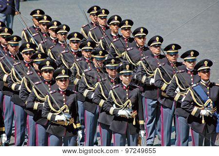 Italian Police On Parade
