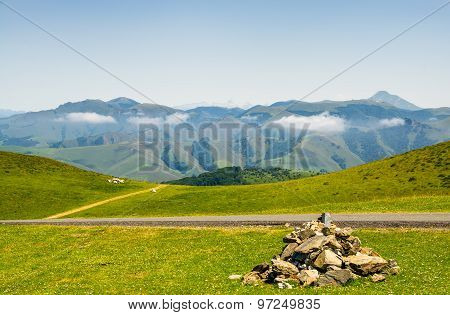 Grazing meadows in the French Pyrenees