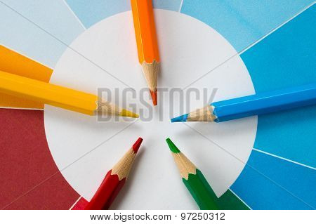 Colorful Pencils With Pie Chart 4