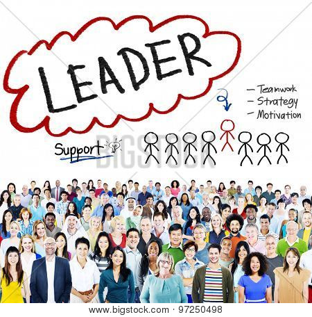 Leader Support Teamwork Strategy Motivation Concept