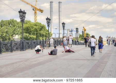 Moscow. On The Patriarshy Bridge