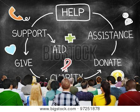 Help Assistance Support Donate Volunteer Concept