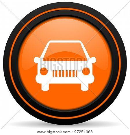 car orange icon auto sign