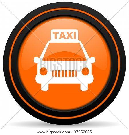 taxi orange icon